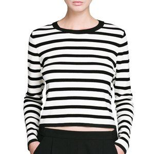 Mango | Striped Cropped Sweater